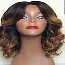 cheap Models & Model Kits-Human Hair Lace Front Wig Body Wave 130% Density Ombre Hair / Natural Hairline / African American Wig Women's Short / Medium Length / Long Human Hair Lace Wig / 100% Hand Tied