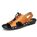 cheap Women's Sandals-Unisex Shoes Cowhide Spring / Summer Comfort Sandals Upstream Shoes Dark Blue / Light Brown