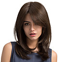 cheap Human Hair Wigs-Synthetic Wig Straight Side Part With Bangs Brown Women's Capless Carnival Wig Halloween Wig Natural Wigs Long Synthetic Hair Daily
