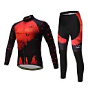 cheap Cycling Jersey & Shorts / Pants Sets-Long Sleeve Cycling Jersey with Tights Bike Clothing Suit, Thermal / Warm Polyester, Fleece, Silicon / Lycra