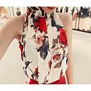 hesapli USB-Kadın's Boyundan Bağlamalı Desen, Karışık Renkli Bluz