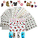 cheap Other Nail Tools-50 pcs 3D Nail Stickers Nail DIY Tools Full Nail Stickers nail art Manicure Pedicure 3D Fashion Daily