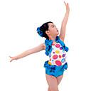 billige Dansetøj til børn-Jazz Dragter Ydeevne Spandex Draperet Uden ærmer Naturlig Trikot / Heldragtskostumer / Shorts / Hovedtøj