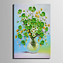 cheap Landscape Paintings-Oil Painting Hand Painted - Floral / Botanical Retro Canvas