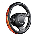cheap Abstract Paintings-AUTOYOUTH Car Steering Wheel Cover Small Black Lychee Pattern Crescent Wood Grain Universal 38cm /15 inch Car Styling