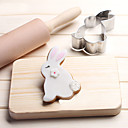cheap Bakeware-Bakeware tools Stainless Steel Christmas Wedding Birthday For Bread For Cookie For Pie 3D Cartoon Animal Cookie Tools 1pc