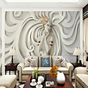 cheap Wall Murals-Art Deco 3D Lady Wallpaper For Home Oriental Wall Covering , Canvas Material Adhesive required Mural , Room Wallcovering