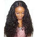 olcso Cookie Tools-Emberi haj Tüll homlokrész Csipke eleje Paróka Brazil haj Természetes hullám Paróka 130% Haj denzitás baba hajjal Természetes hajszálvonal Afro-amerikai paróka 100% kézi csomózású Női Rövid Közepes