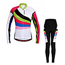 cheap Cycling Pants, Shorts, Tights-WOSAWE Women's Long Sleeves Cycling Jersey with Tights - Rainbow Bike Clothing Suits, Quick Dry, Reflective Strips
