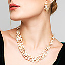 cheap Jewelry Sets-Women's Jewelry Set - Pearl, Rhinestone European, Fashion, Elegant Include Drop Earrings Pearl Necklace White / Coffee For Wedding Party Daily