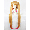 cheap Synthetic Capless Wigs-Synthetic Wig Blonde With Ponytail Synthetic Hair Blonde Wig Women's Long Capless