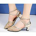 cheap Modern Shoes-Women's Modern Shoes Lace Flat / Heel Dance Shoes Gold / Black / Silver / Practice