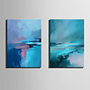 halpa Abstraktit maalaukset-Hang-Painted öljymaalaus Maalattu - Abstrakti Nykyaikainen Moderni Kangas
