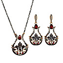 cheap Car Emergency Tools-Women's Jewelry Set - Flower Personalized, Luxury, Unique Design Include Drop Earrings / Necklace Black / Red / Green For Christmas Gifts / Party / Special Occasion