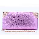 cheap Wallets-Women's Bags PU Polyester Coin Purse Zipper for Casual All Seasons Blue Black Purple