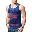 cheap Earrings-Men's Active Cotton Slim Tank Top - Letter Print / Sleeveless