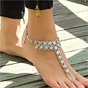 cheap Oil Paintings-Anklet - Flower Vintage, Punk, Fashion Silver For Casual Women's