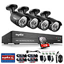 cheap Personal Protection-SANNCE® 4CH CCTV Security System Onvif 1080P AHD/TVI/CVI/CVBS/IP 5-in-1 DVR with 4pcs 2.0MP Night Vision Weatherproof Cameras 1TB HDD