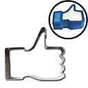 olcso Cookie Tools-thumbs up cookie-k vágó facebook ad egy hasonló emoji rozsdamentes acél penész sütemény tojás fröccsöntés omlett