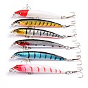 cheap Fishing Lures & Flies-6 pcs Hard Bait Minnow Lure kits Fishing Lures Lure Packs Minnow Hard Bait Plastics Sea Fishing Bait Casting Spinning Freshwater Fishing