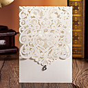 cheap Wedding Invitations-Wrap & Pocket Wedding Invitations 50 - Invitation Cards Classic Style Embossed Paper