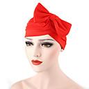 hesapli Düğün Hediyeleri-Kadın's Şapka / Çiçek Pamuklu Kıvırılan Şapka - Fiyonklar, Solid / Yaz