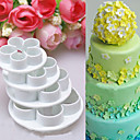 cheap Bakeware-4Pcs/Set Rose Flower Cake decorating tools Cupcake Kitchen fondant Kitchen accessories Cake mold Stand cozinha cookie cutter