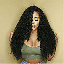 cheap Bottle Favors-Remy Human Hair Lace Front Wig / Glueless Lace Front Wig Kinky Curly 130% / 150% Density Natural Hairline / African American Wig / 100% Hand Tied Women's Short / Medium Length / Long Human Hair Lace