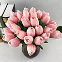 זול פרחים מלאכותיים-פרחים מלאכותיים 10 ענף ארופאי צבעונים פרחים לשולחן