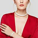 cheap Jewelry Sets-Women's Crystal Jewelry Set - Imitation Diamond Stretch, Fashion, Elegant Include Stud Earrings / Choker Necklace / Tennis Bracelet Silver For Wedding / Party / Gift / Bracelets & Bangles