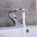 billige Vandhaner til badeværelset-Centersat Keramik Ventil Et Hul Krom, Håndvasken vandhane