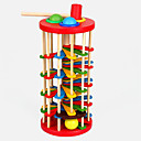 cheap Toy Abacuses-Hammering / Pounding Toy Balls Marble Track Set Baby & Toddler Toy Educational Toy Wood Kid's Gift 1pcs