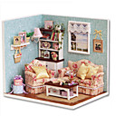 cheap Doll Houses-CUTE ROOM Model Building Kit DIY House Plastics Classic Pieces Unisex Gift