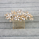 cheap Party Headpieces-Crystal / Rhinestone Hair Combs with 1 Wedding Headpiece