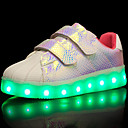 cheap Boys' Shoes-Girls' Shoes Tulle / Leatherette / PU(Polyurethane) Spring / Fall Comfort / Light Up Shoes Sneakers Walking Shoes Magic Tape / LED for Black / Purple / Pink / Rubber