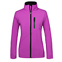 cheap Softshell, Fleece & Hiking Jackets-Women's Hiking Softshell Jacket Outdoor Waterproof Thermal / Warm Windproof Fleece Lining Spring Fall Winter Softshell Top Camping / Hiking Hunting Fishing Dark Blue Red Violet L XL XXL