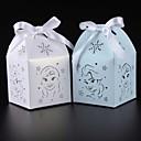 preiswerte Gastgeschenk Boxen & Verpackungen-kubisch Kartonpapier Geschenke Halter mit Bänder Geschenkboxen / Geschenk Schachteln
