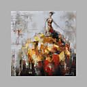 halpa Abstraktit maalaukset-Hang-Painted öljymaalaus Maalattu - Ihmiset Muoti Kangas