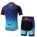 cheap Cycling Jerseys-Miloto Men's Short Sleeve Cycling Jersey with Shorts - Blue Bike Padded Shorts / Chamois / Clothing Suit Spandex Gradient / Stretchy