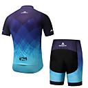 cheap Cycling Jersey & Shorts / Pants Sets-Miloto Men's Short Sleeves Cycling Jersey with Shorts - Blue Bike Padded Shorts / Chamois Clothing Suits Summer, Spandex