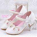 baratos Sapatos de Menina-Para Meninas Sapatos Courino Verão / Outono Conforto / Sapatos para Daminhas de Honra Rasos Colchete para Dourado / Branco / Rosa claro