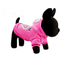cheap Dog Clothes-Dog Hoodie Dog Clothes Cartoon Fuchsia Blue Cotton Costume For Pets Casual/Daily