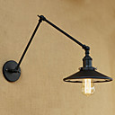 billige Vegglamper-Land / Retro Rød Swing Arm Lights Metall Vegglampe 110-120V / 220-240V 60W