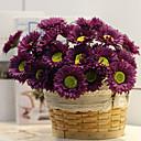 baratos Interruptores-Flores artificiais 10 Ramo Moderna / Modern Plantas Flor de Mesa