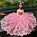 abordables Colgantes y Ornamentos para Coche-Diy ornamentos automotrices moda creativa dibujos animados barbie muñeca encaje boda luz polvo princesa coche colgante&Adornos
