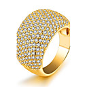 cheap Rings-Women's Cubic Zirconia Band Ring - Zircon, Gold Plated Luxury, Fashion, Statement 6 / 7 / 8 Gold For Party / Birthday / Gift