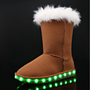 cheap Rings-Girls' Shoes Nubuck leather Winter Snow Boots / Light Up Shoes Boots for Gray / Brown / Pink