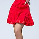 preiswerte Kleidung für Lateinamerikanischen Tanz-Latein-Tanz Unten Damen Leistung Eis-Seide Rüschen Normal Röcke