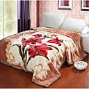 abordables Mantas-Franela Floral Algodón mantas
