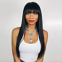 cheap Synthetic Capless Wigs-Synthetic Wig Bob Haircut Synthetic Hair Black Wig Women's Long Capless